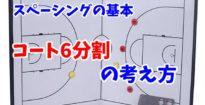 【バスケ】コートを6分割してフロアバランスをキープしよう!